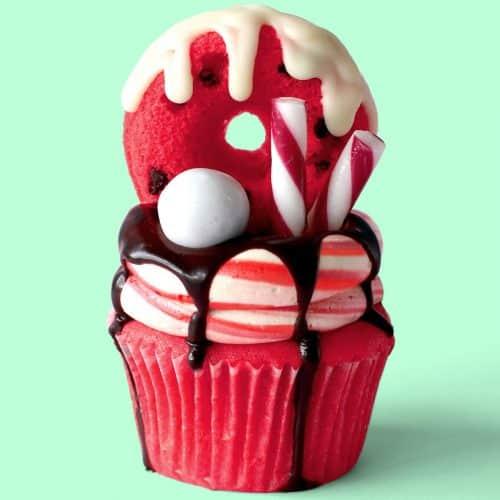 Candy Cane Freakshake Cupcakes