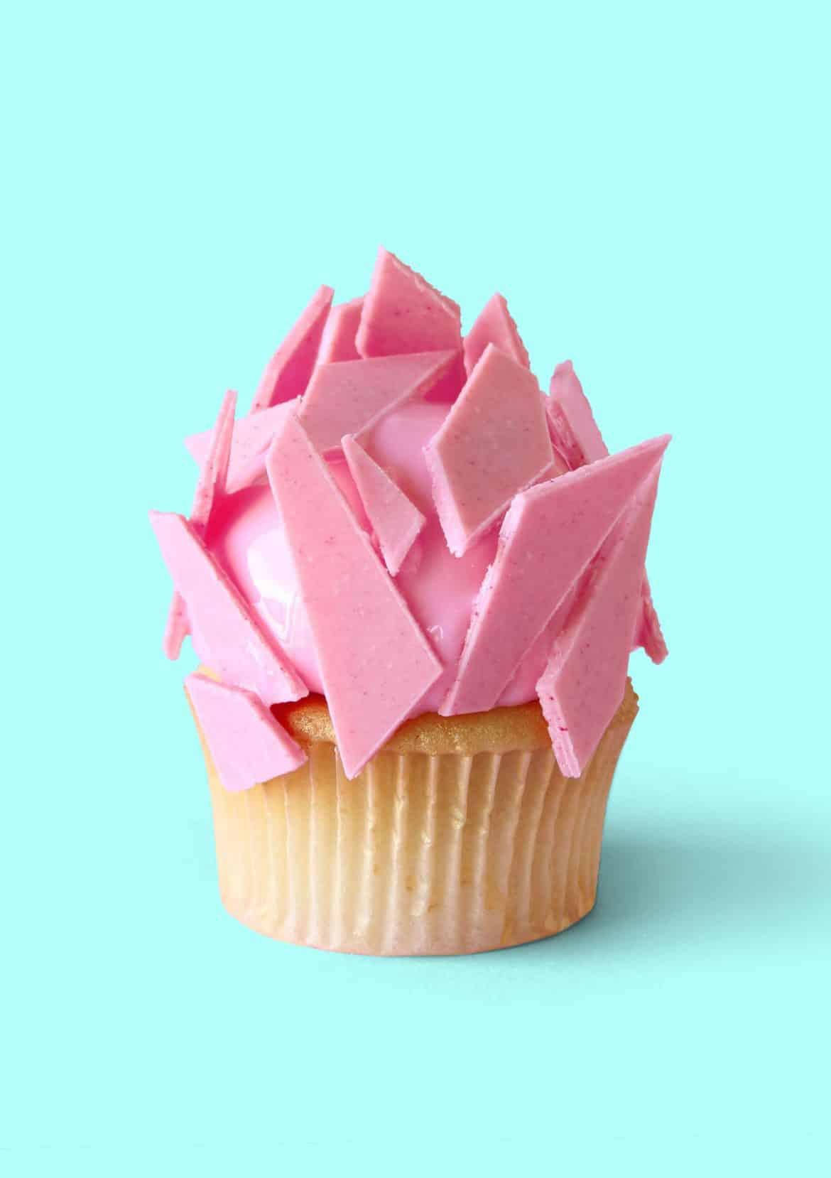 Diamond Heart Cupcakes