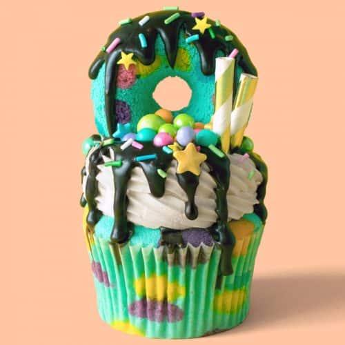 End Of The Rainbow Freakshake Cupcakes