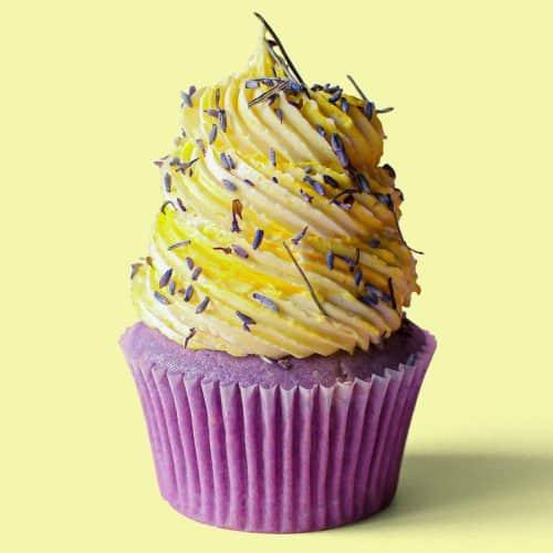 Honey Lemon Lavendar Cupcakes