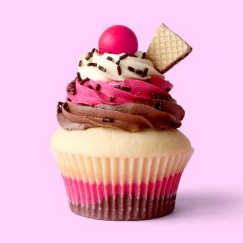Neapolitan Ice Cream Cupcakes