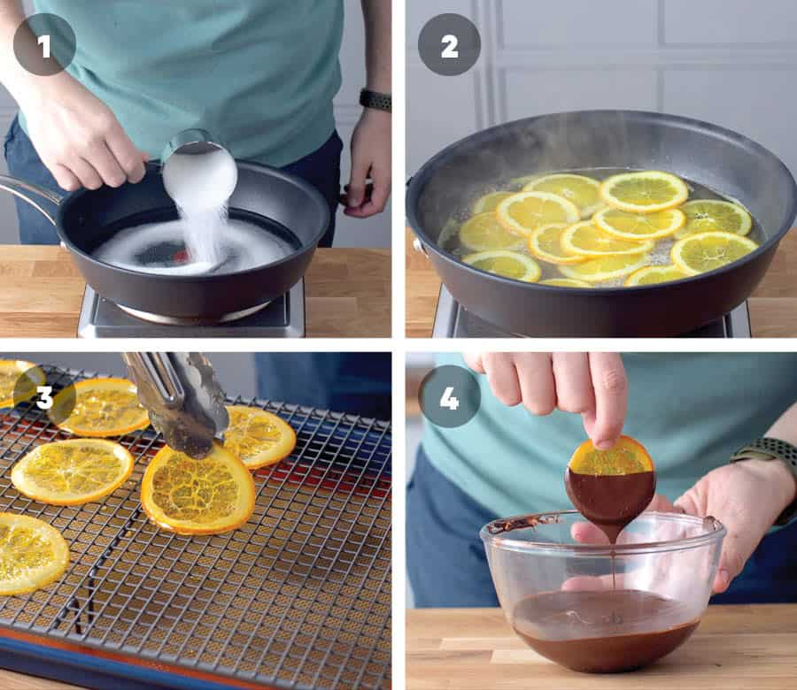 Step By Step to making candied oranges