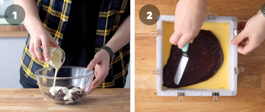 How to make ganache for Nanaimo Bars