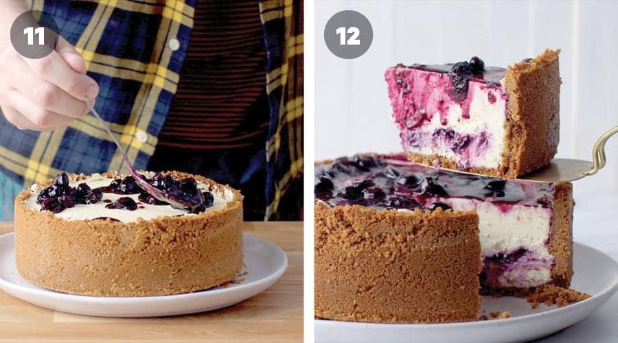Blueberry Cheesecake Instructional Image 11