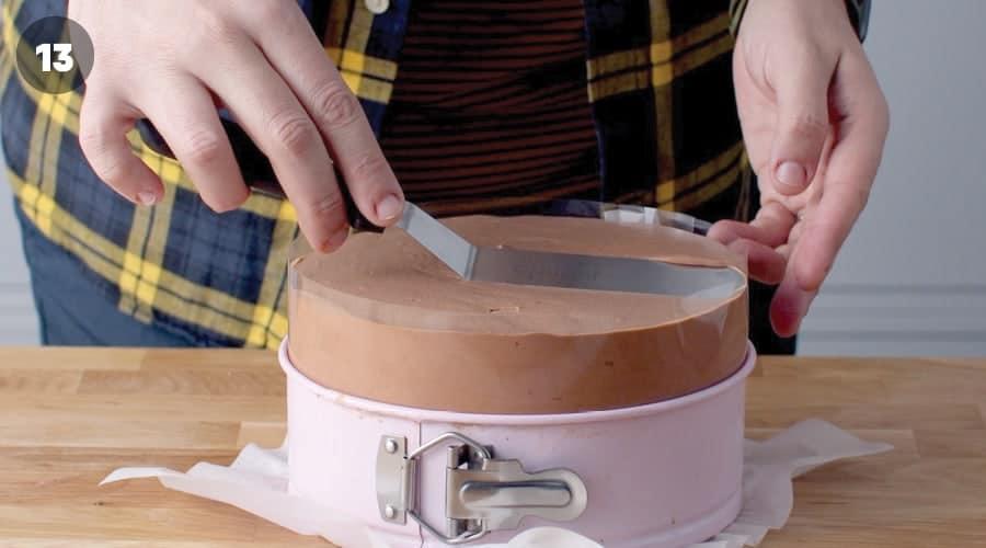 Chocolate Mousse Cake Instructional Image 12