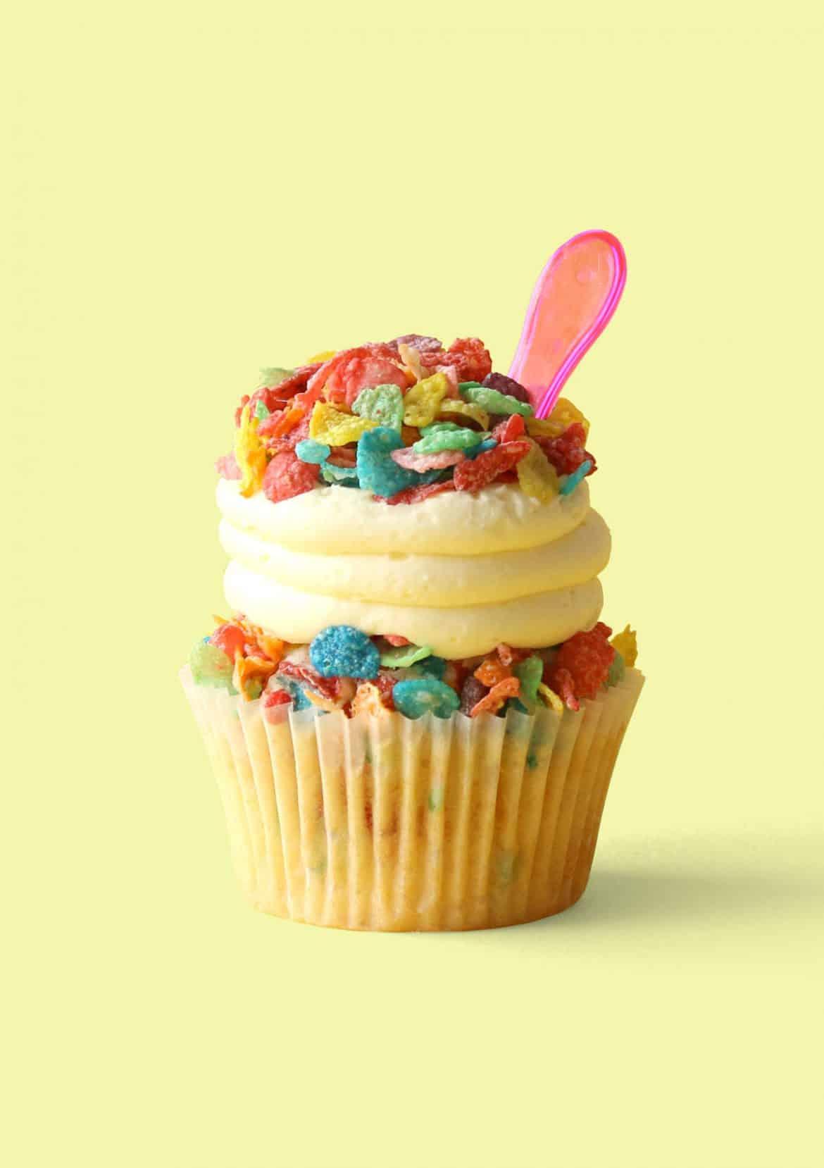 Saturday Morning Breakfast Cereal Cupcakes