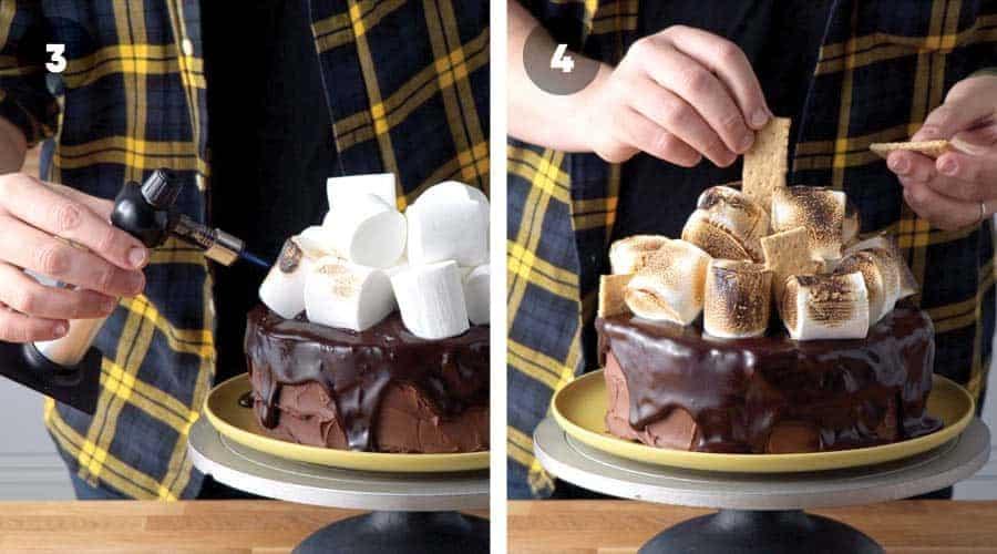 Chocolate Smores Cake Instructional image 09