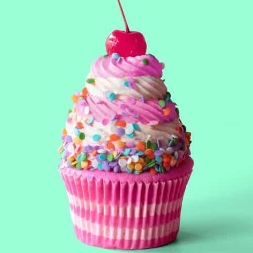 Strawberry Birthday Cake Cupcakes