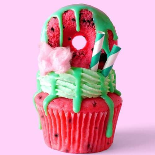 Watermelon Freakshake Cupcakes