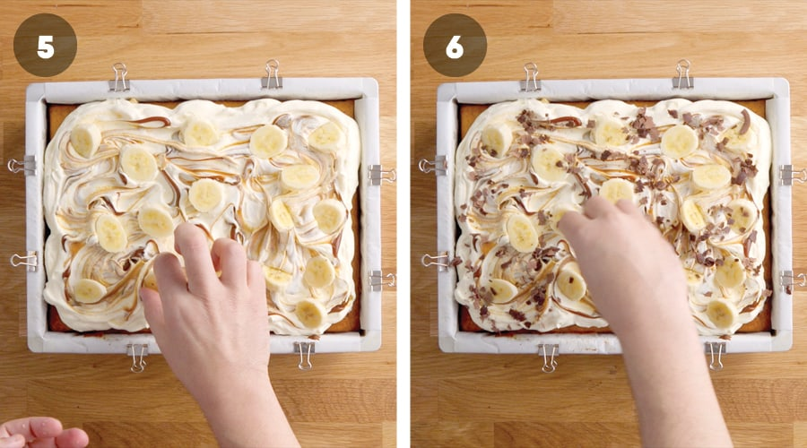 Honey Banoffee Sheet Cake Instructional Image 09