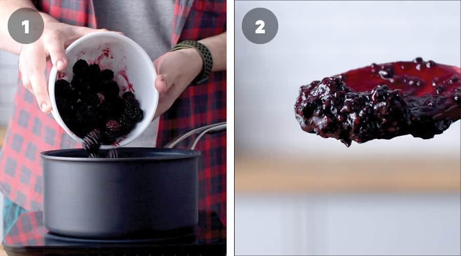 Blackberry Cheesecake Brownies Instructional Image 01
