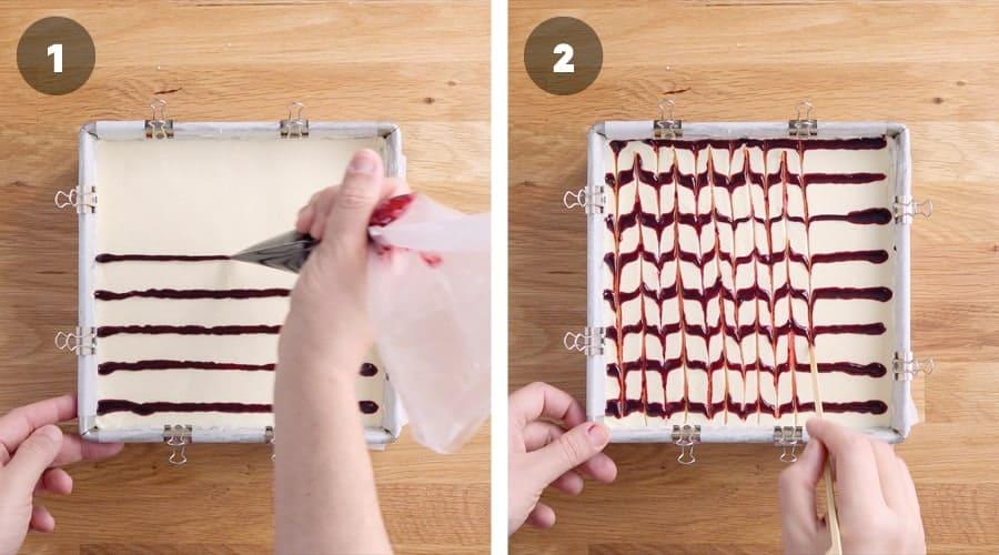 Blackberry Cheesecake Brownies Instructional Image 09