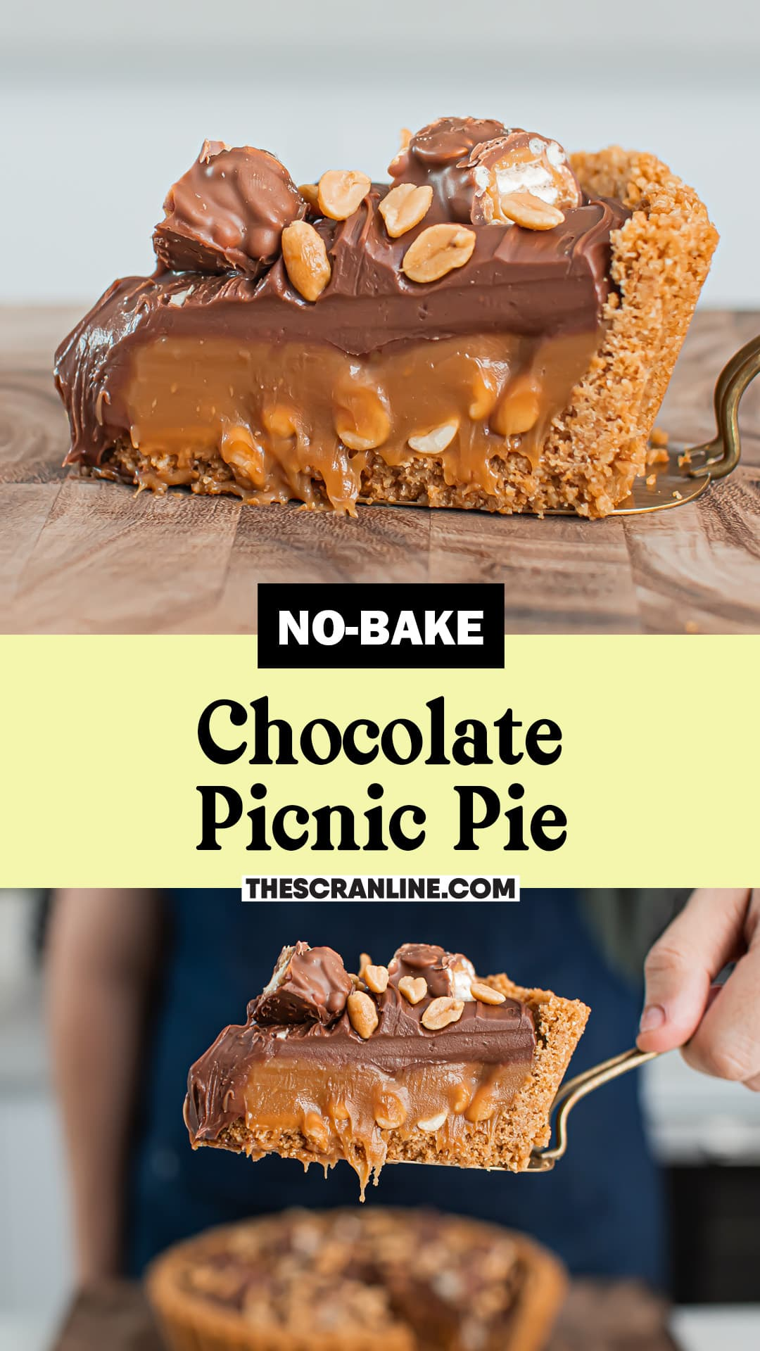 Pinterest image for No-bake Picnic Pie