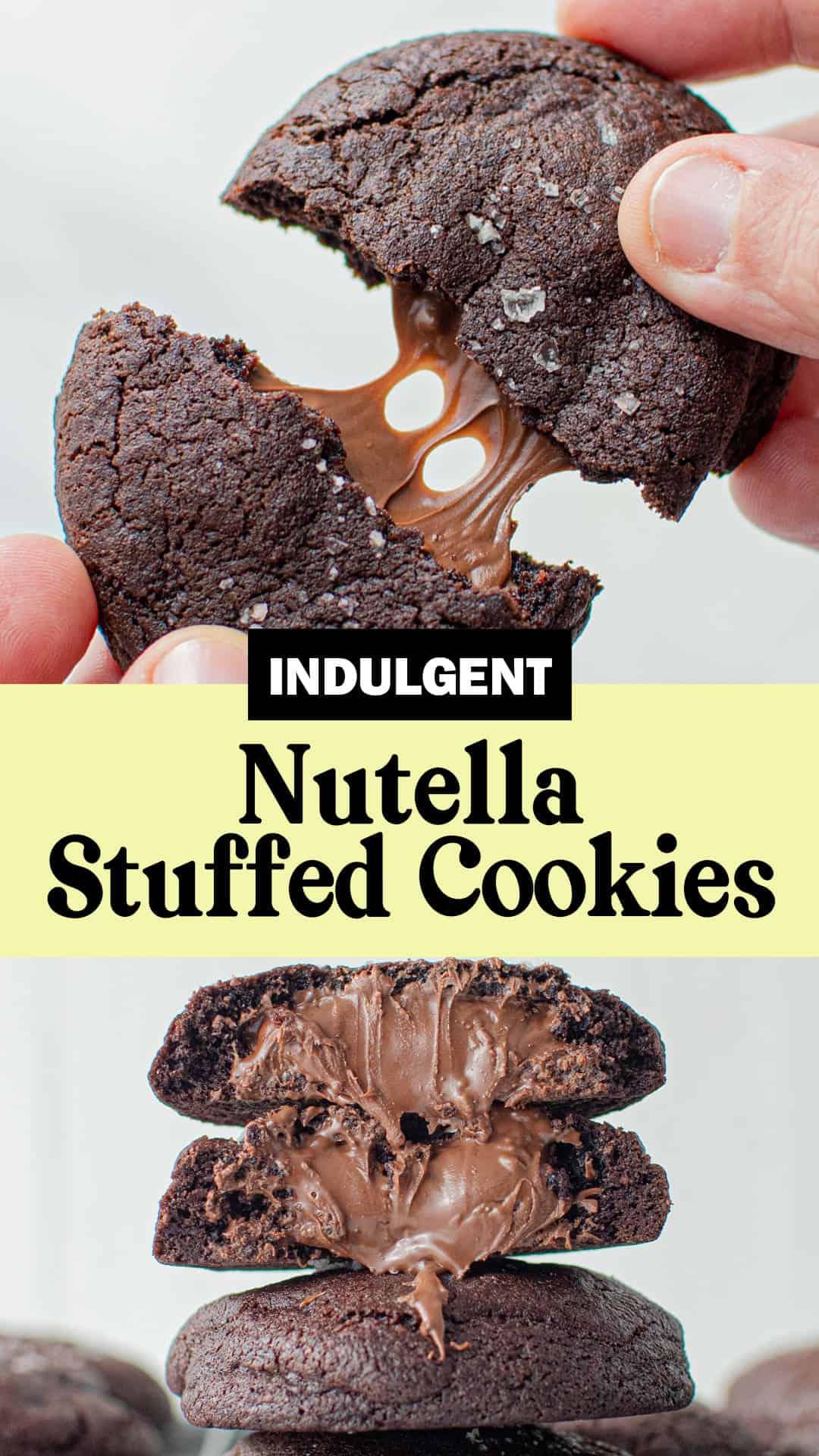 Pinterest Image for Nutella Stuffed Image