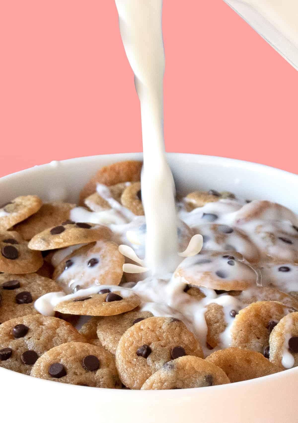 Close up shot of Tik Tok Mini Cookie Cereal.