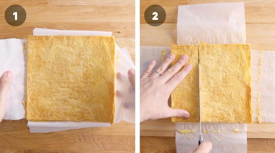 Instructional image for Classic Vanilla Slice 10