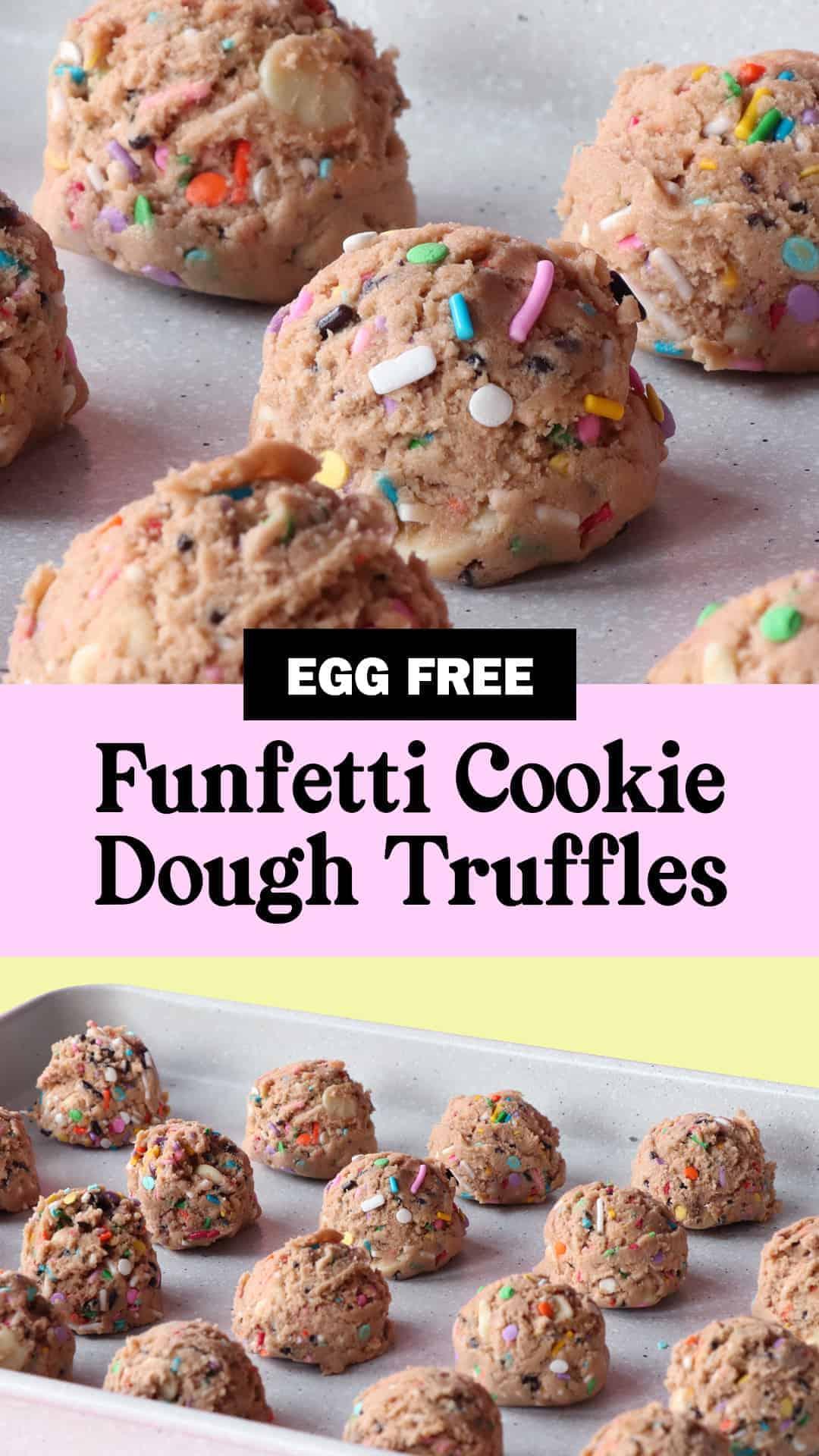 Pinterest Image For Funfetti Cookie Dough Truffles