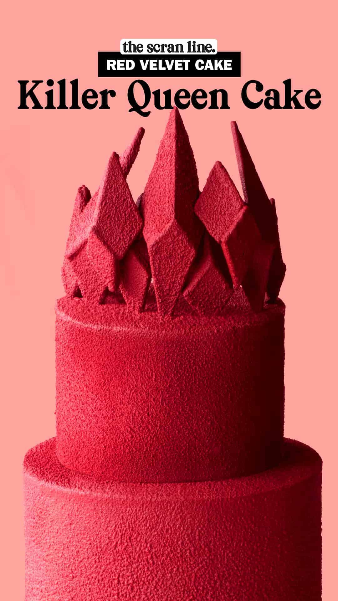 Pinterest image for Killer Queen Cake