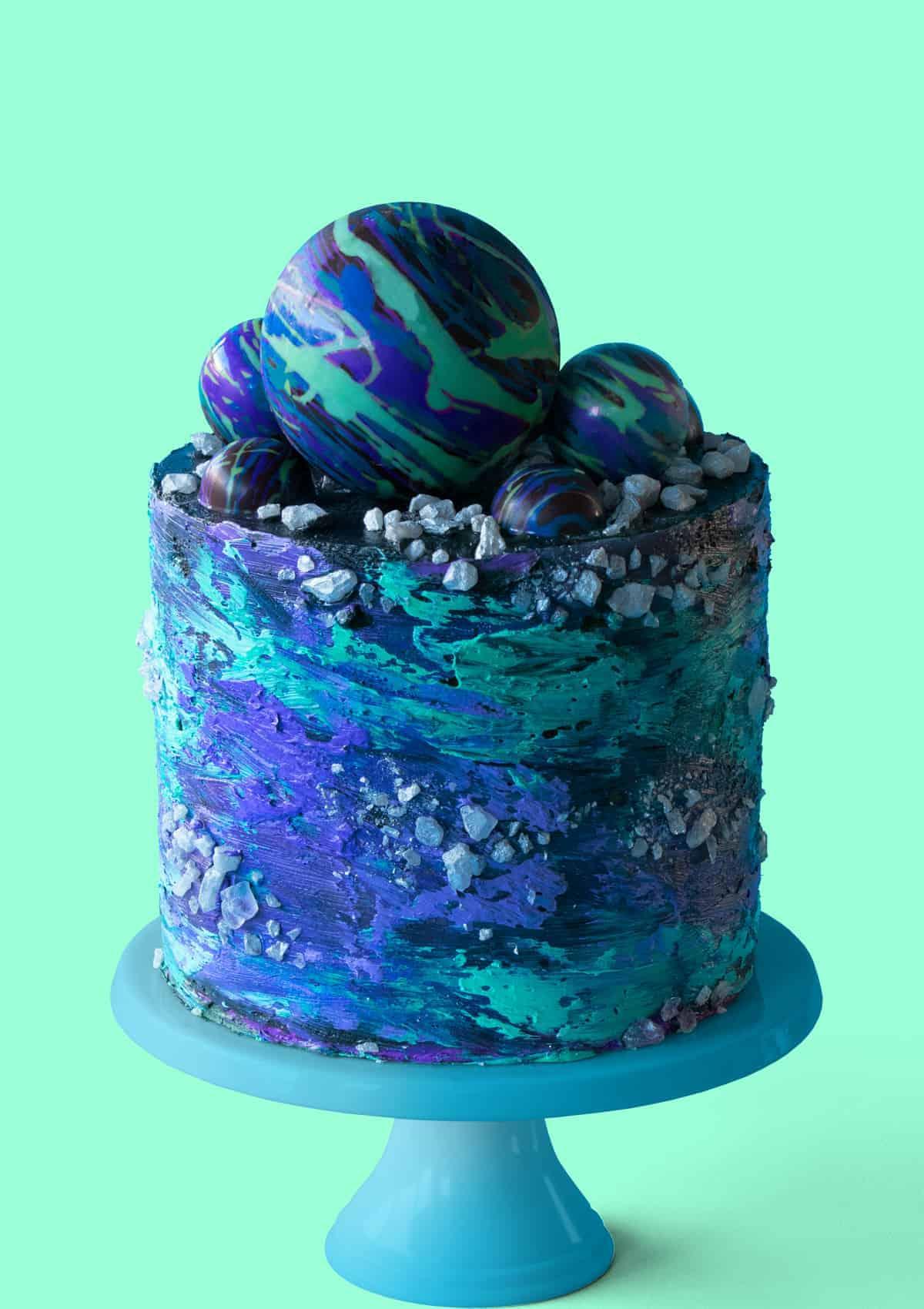 Midnight Galaxy Cake
