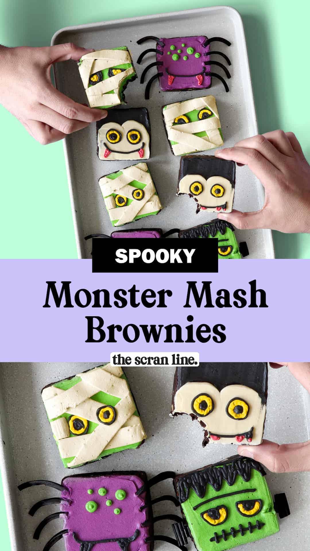 Pinterest Image For Monster Mash Brownies