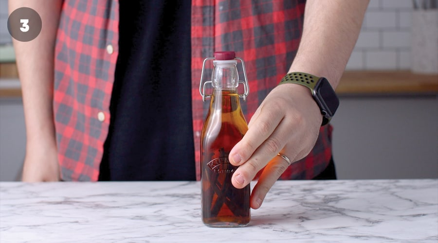 Instructional Image For Pure Vanilla Extract 06