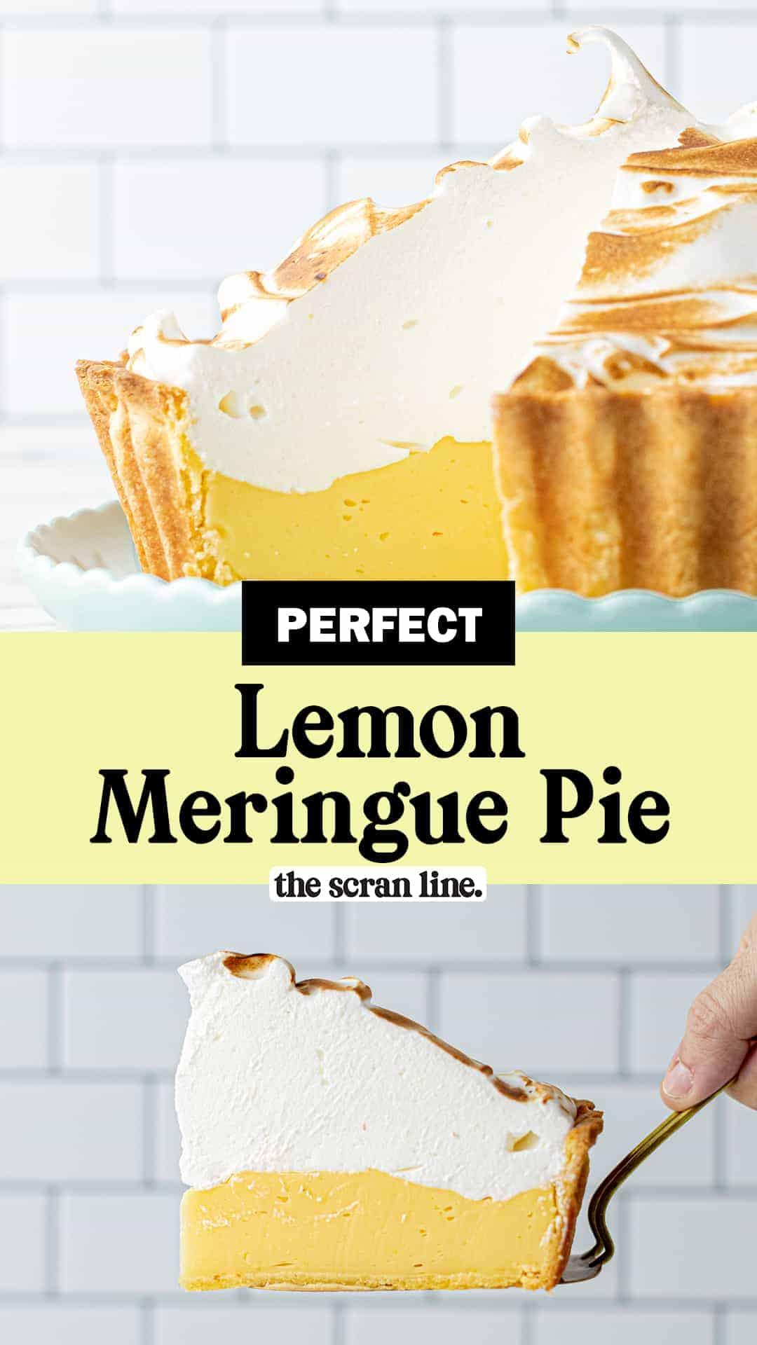 Pinterest image for Perfect Lemon Meringue Pie