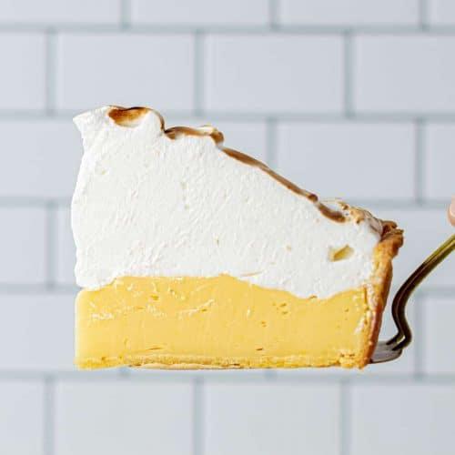 Slice of Perfect Lemon Meringue Pie