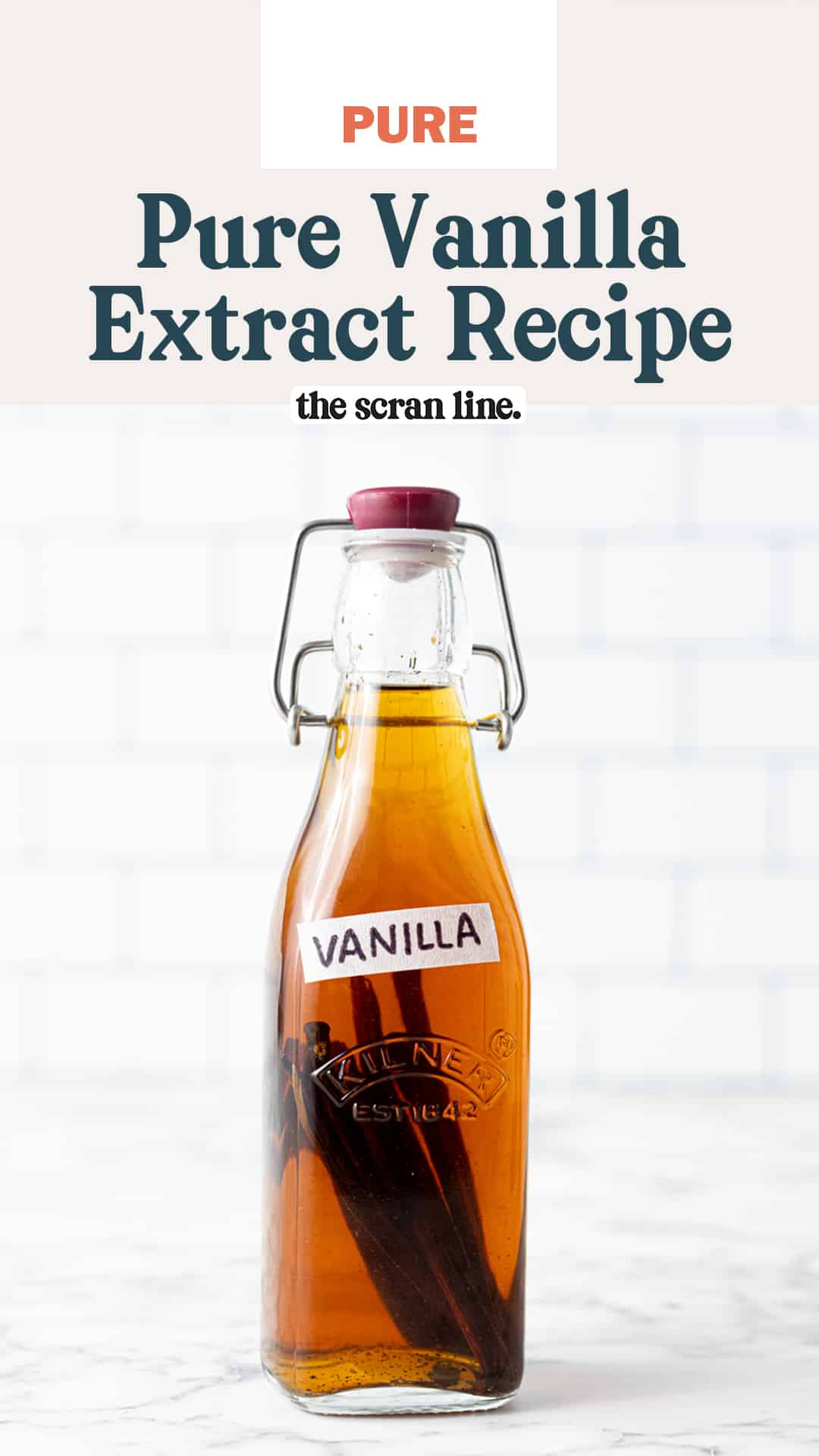 Pinterest image for Pure Vanilla Extract
