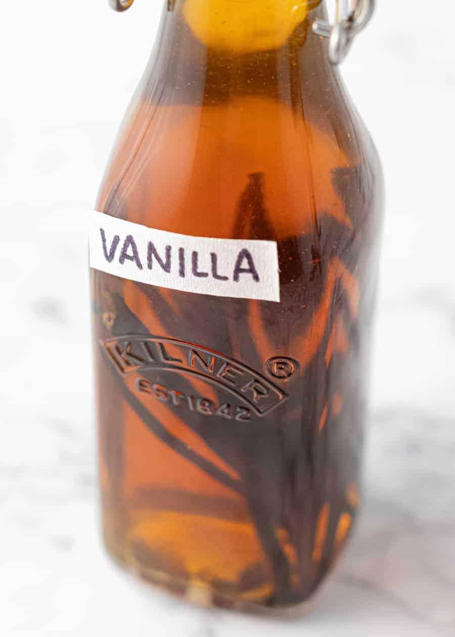 Close up of Pure Vanilla Extract