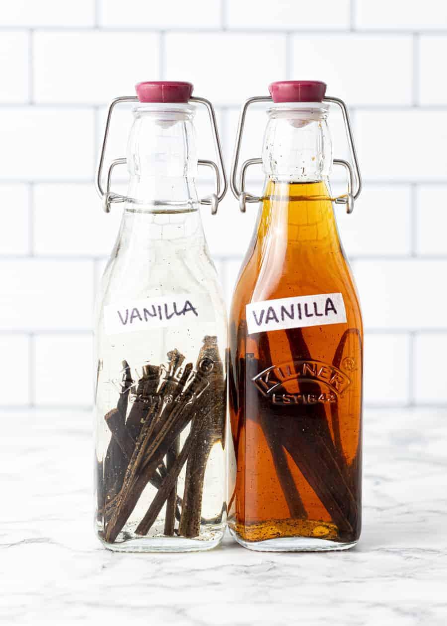 Pure Vanilla Extract bottles.