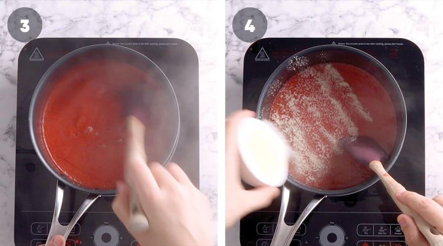 Instructional image for Strawberry And Pretzel tart 04