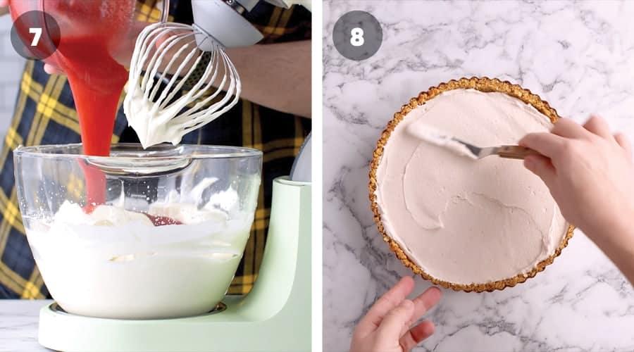 Instructional image for Strawberry And Pretzel tart 06