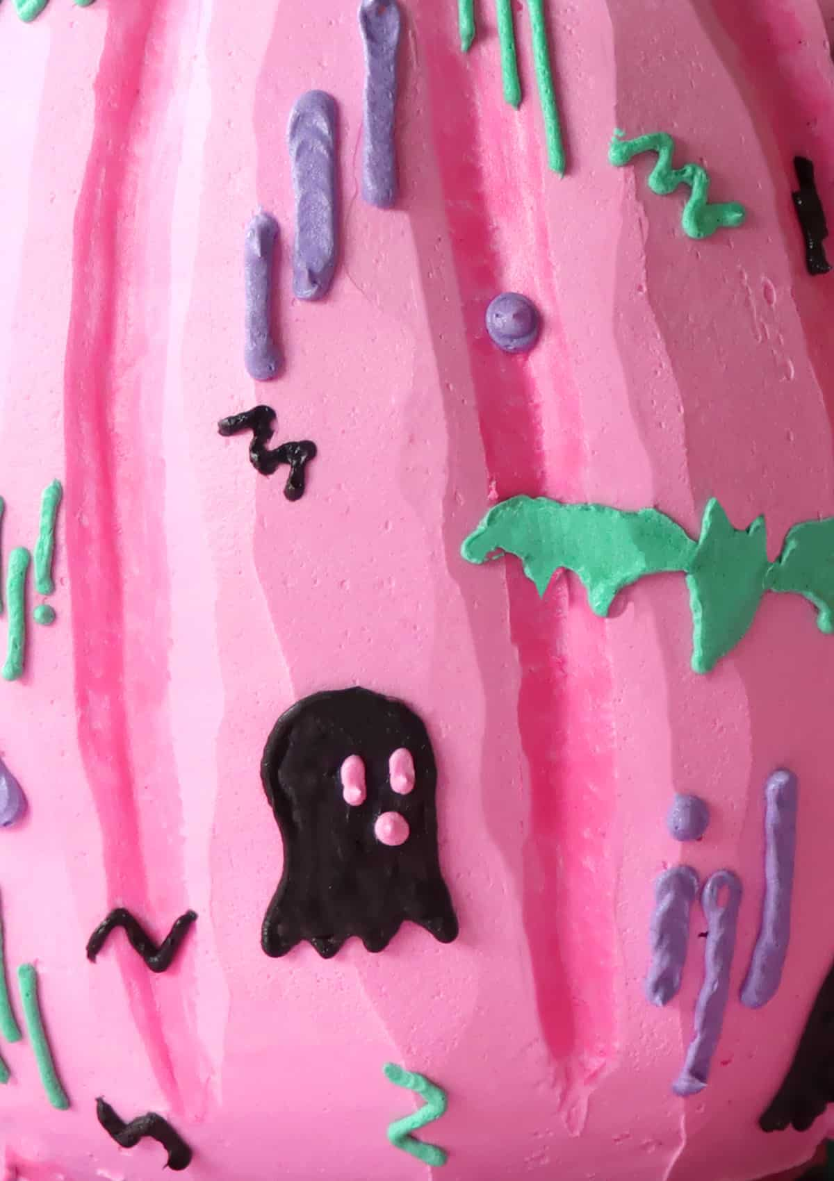 Close up of Trendy Pumpkin Cake