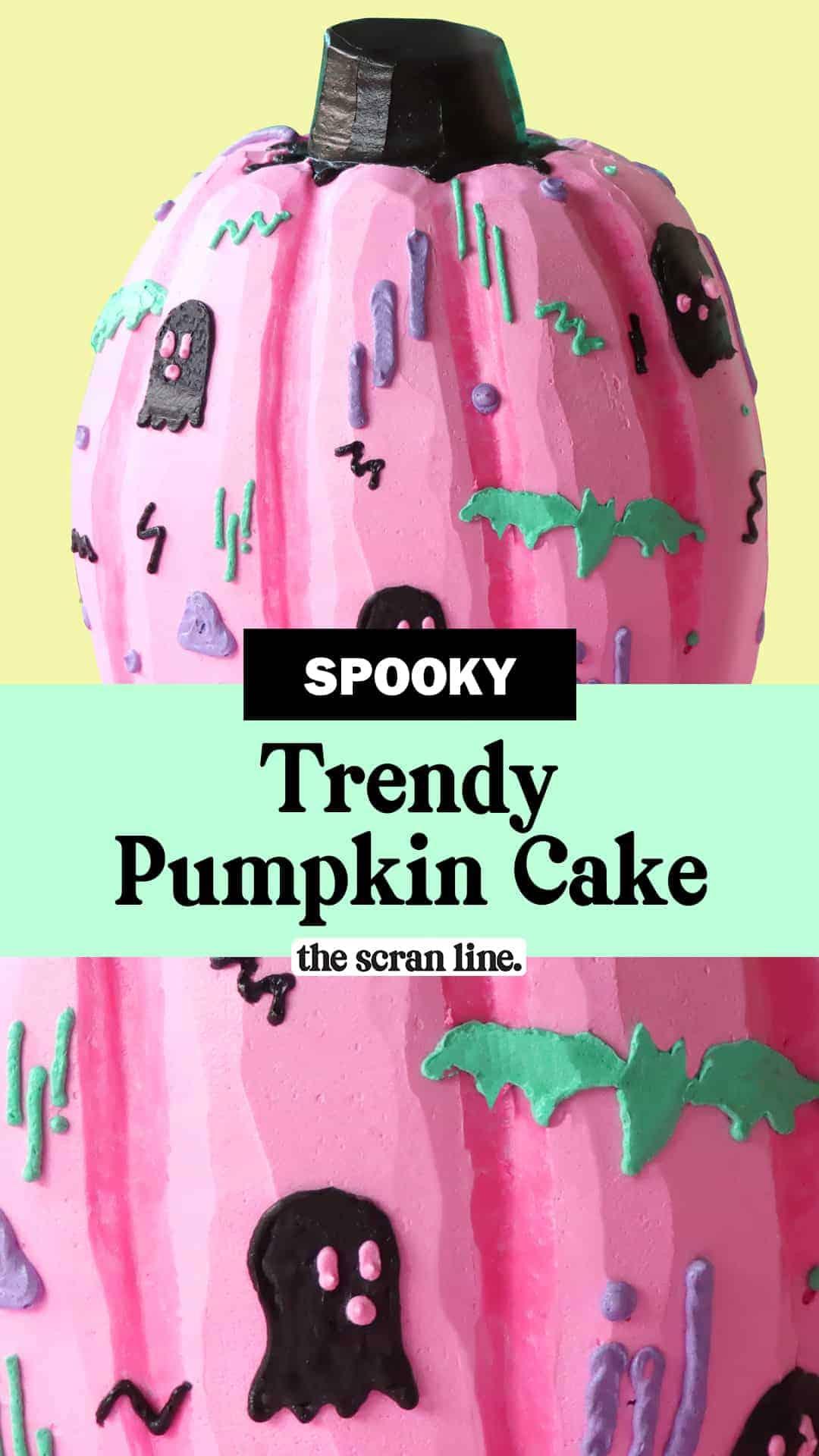 Pinterest Image For Trendy Pumpkin Cake