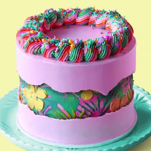 Tropical Fault Line Cake