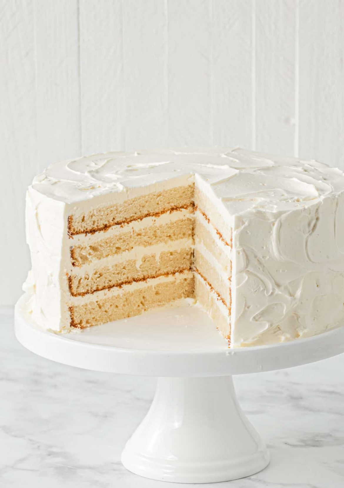 White Chocolate Mud Cake with slice taken out