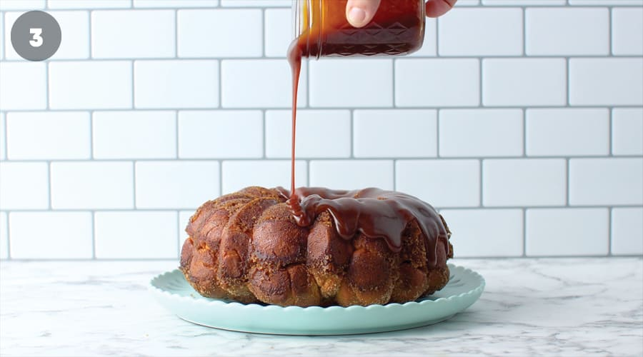 Instructional image for Caramel Monkey Bread 12