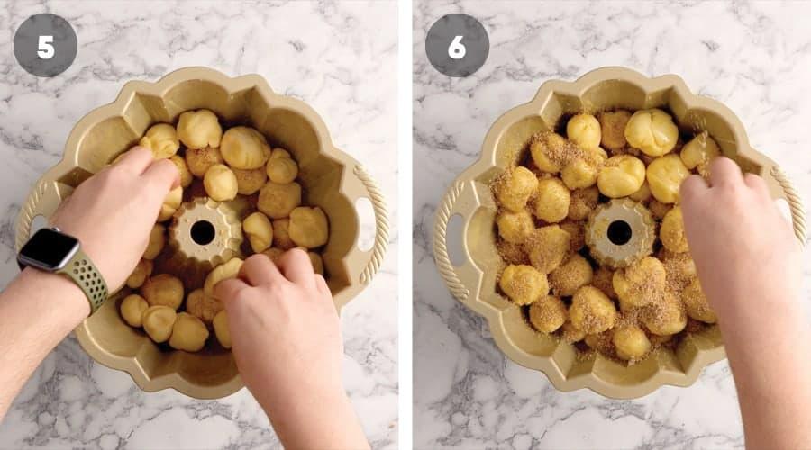 Instructional image for Caramel Monkey Bread 10