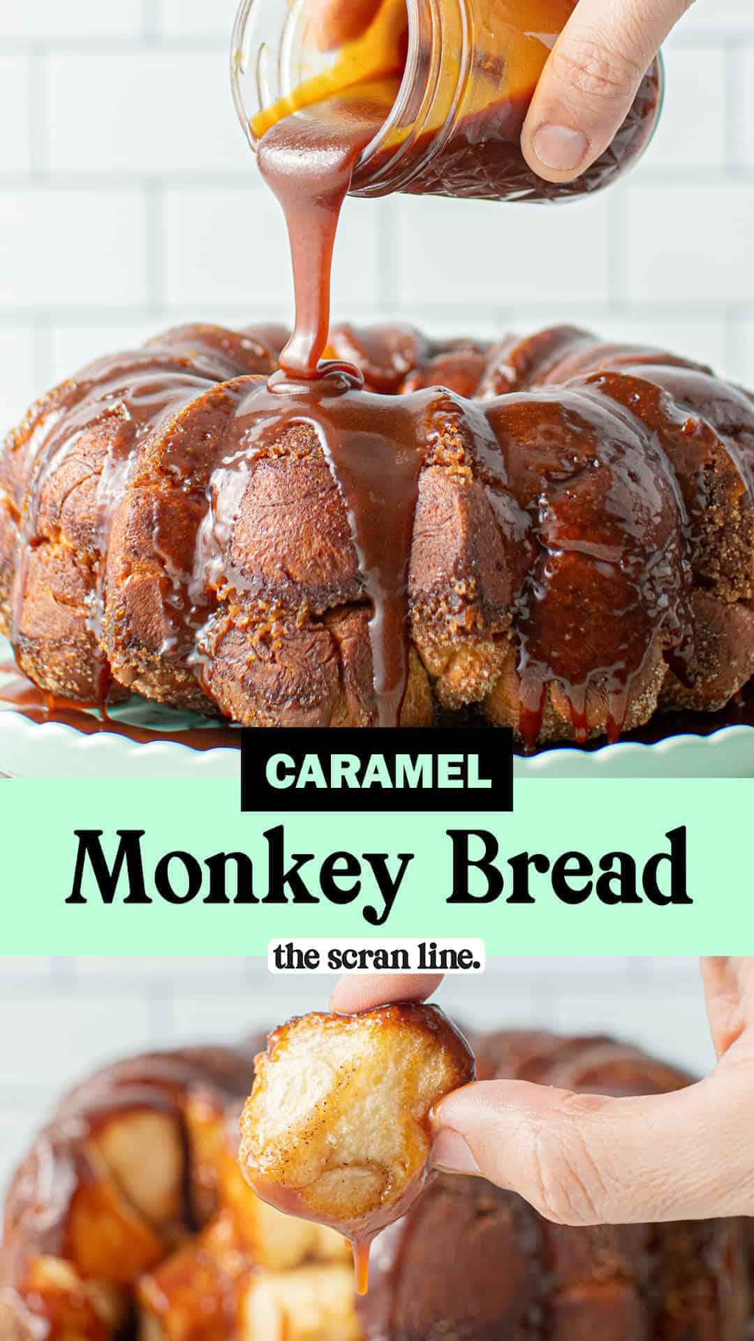 Pinterest image for Caramel Monkey Bread