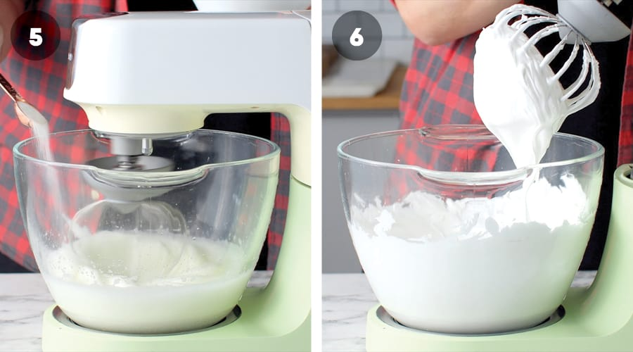 Instructional image for Meringue Ghost Cake 03