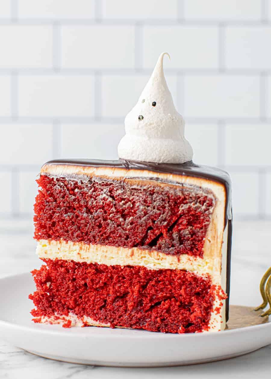 Slice of Meringue Ghost Cake