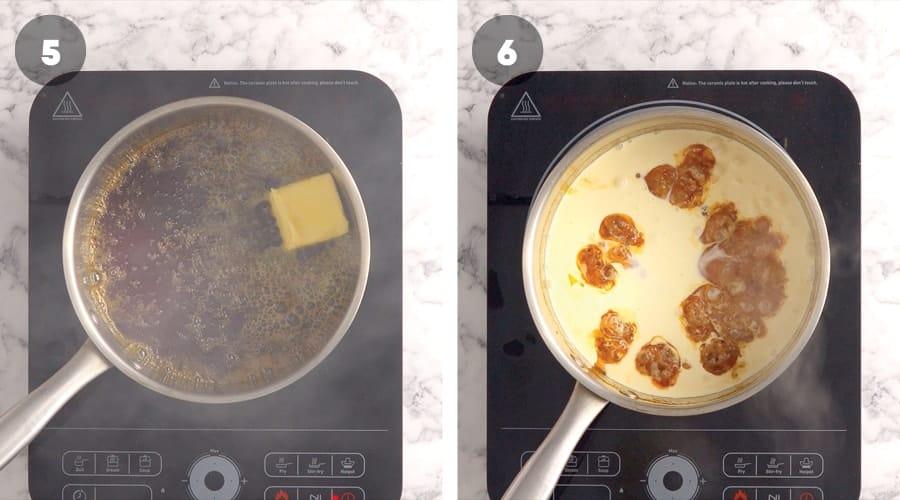 Instructional image for Salted Caramel Sauce 03